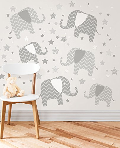 Wall Pops WPK1804 Elephants, a Ton of Love Wall Art Kit
