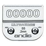 Andis 64740 UltraEdge Carbon-Infused Steel Detachable Clipper Blade, Size 00000, 1/125-Inc...