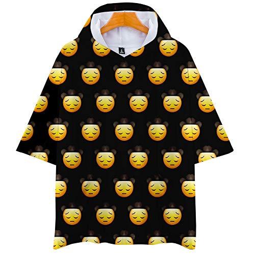 Camiseta De Manga Corta para Hombre, con Capucha Y Camiseta De Manga Corta para Hombre, Impresa con La Letra De Lil NAS X