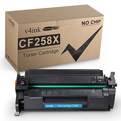 v4ink Compatible Toner Replacement for HP 58X CF258X 58A CF258A Toner to use for HP Laserjet Pro M404n M404dn M404dw, MFP M428fdw M428fdn M428dw Printer (Black, 1 Pack Without chip)