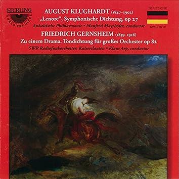 Klughardt: Lenore, Op. 27 - Gernsheim: Zu Einem Drama, Op. 82
