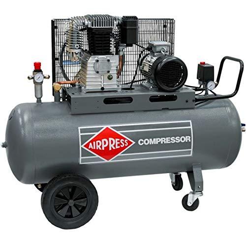 Airpress® ölgeschmierter Druckluft-Kompressor 5,5 PS | 4 kW 11 bar 200 l Kessel 400 Volt großer Luftdruck Kolben-Kompressor Mobil HK 650-200