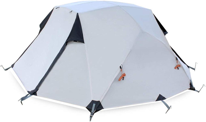 Sisizhang Zelt, Outdoor Campingausrüstung, Vier Jahreszeiten Regendicht Doppel Doppel Aluminium Pole Zelt, 255 × 215 × 110 cm