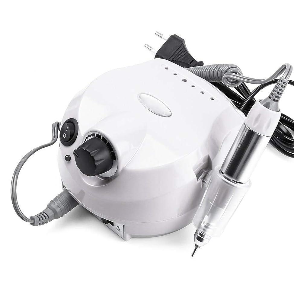 不屈地理聴覚障害者プロフェッショナル35000 rpm電動アクリルネイルドリルマシンファイルビットネイルカッターネイルマニキュアキットサロン&ホームネイルツールセット