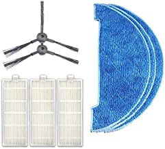 QGT XI294 1 Pair K614 Side Brushes + 3 PCS K636 Rags + 3 PCS I207 Filters for ILIFE A4 / T4