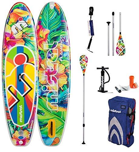 Mistral Juego Flamenco 10'5 SUP y remo, tecnología DSFL, tabla de surf de remo, SUP, hinchable, incluye tabla SUPwave.de Coil-Leash Stand Up Paddle Board iSUP
