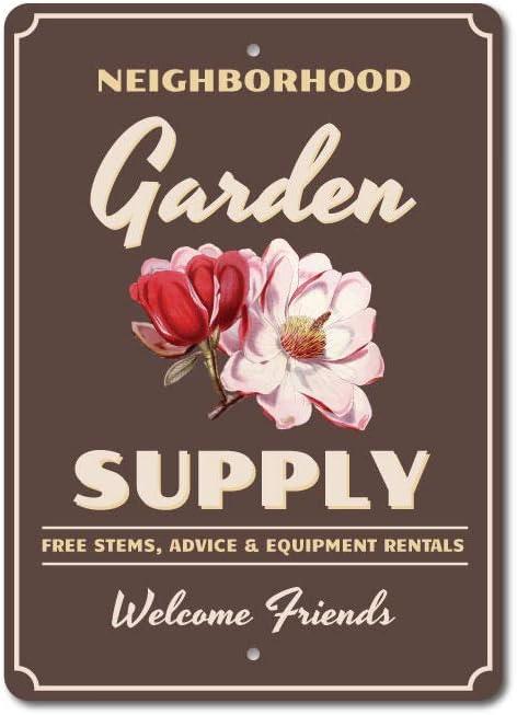 Garden Supply Sign Flower Lover Gardener Si Popular quality assurance standard Gift Aluminum
