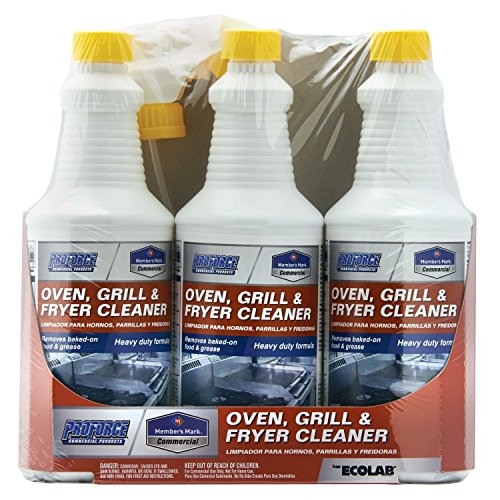 Member's Mark Commercial Oven, Grill and Fryer Cleaner, 32 oz, 3 Piece