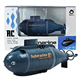 Jujuism Mini Remote Control Nuclear Submarine RC Race Boat Ship High Speed Waterproof Diving in Pools Lake Ponds, Best Gift for Kids Boys(Blue)