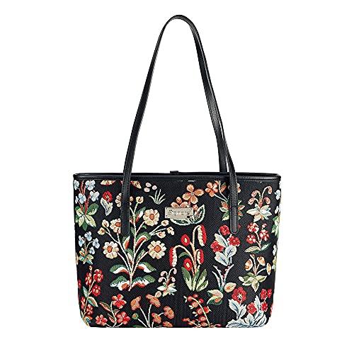 Signare Tapestry - Borsa a tracolla da donna con motivo floreale (Mille Fleur, COLL-MILIF), (Mille Fleur), Taglia unica