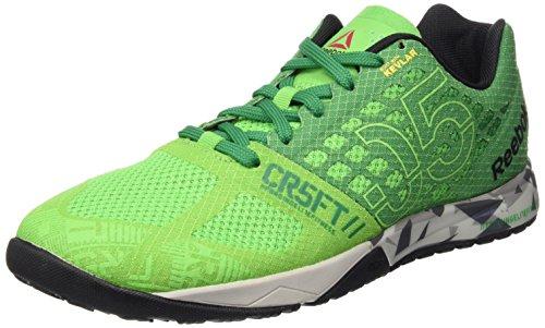 Reebok R Crossfit Nano 5.0 Zapatillas de deporte, Hombre, Verde / Gris / Negro...