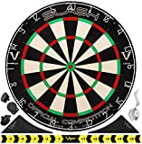 Viper Slash Official Competition Bristle Steel Tip Dartboard with Staple-Free Ultra-Thin Metal Wiring to Increase Score, Self-Healing Professional-Grade African Sisal Board, Magnetic Dart Holders
