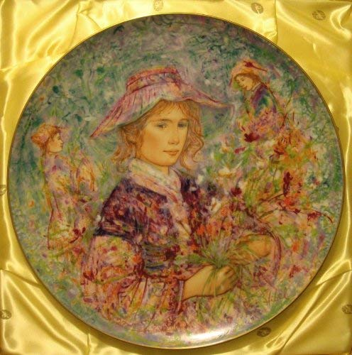 Flower Girl of Provence by Edna Hibel - Limited Edition Collector