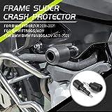 Lorababer Moto Nero POM Paratelaio Anti Crash Cap Pad Protector Protezione motore Protezione Anticaduta da Collisione per B.M.W F900R F900XR F750GS / ADV F850GS / ADV 2019 e successivi