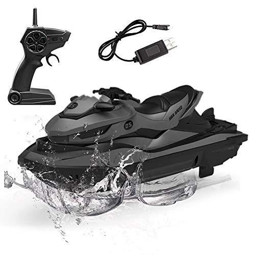 Barco teledirigido de 2,4 GHz, con electrónica resistente al agua y batería de iones de litio integrada para piscinas Lakes Boys Gift