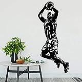 wZUN Jugador de Baloncesto Etiqueta de la Pared decoración de la habitación del niño Vinilo calcomanía extraíble decoración del hogar Mural 50X111cm