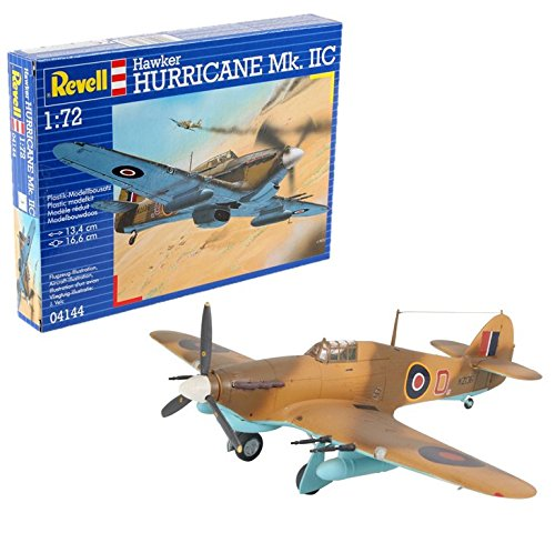 Revell Hawker Hurricane MK IIC, Kit de Modelo, Escala 1:72 (4144) (04144), Multicolor