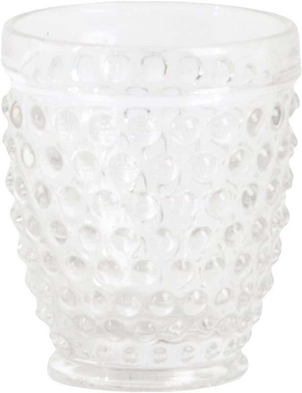 SARO LIFESTYLE SE007 C Hobnail Tumbler Glass Clear 11 84 Oz Set Of 6 Pcs