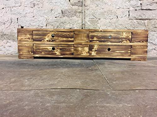 """Palettenmöbel Sideboard Lowboard TV/Möbel """"Messina"""" aus Paletten mit Schubladen geflammt"""