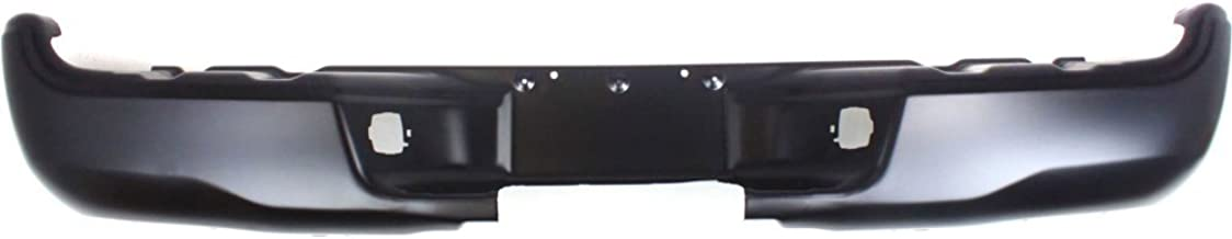Rear Step Bumper Compatible with Toyota Tacoma 2005-2015 Powdercoated Black Steel Fleetside