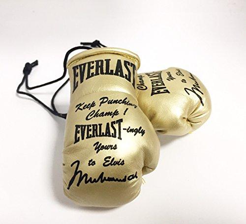 Everlast Handsignierte Mini Boxhandschuhe Special Edition Muhammad Ali als Elvis Presley gegeben