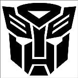 Cove Signs Autobots Sticker/Decal - Black 4' - Transformers Optimus Prime
