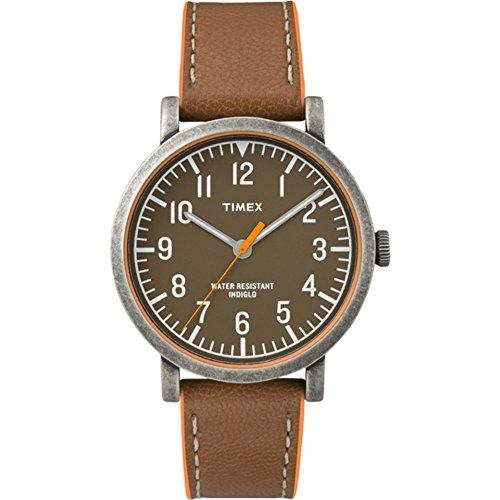 Timex T2P507 - Orologio da polso unisex, classico, rotondo, analogico, al quarzo, in pelle