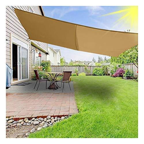 PENGFEI Sonnensegel Sichtschutznetz Beschattungsnetz Dachterrasse Sonnenschutz Atmungsaktiv Anti-UV Rechteck, Anpassbare Größe (Color : Beige, Size : 4x6m)