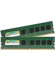 シリコンパワー デスクトップPC用メモリ DDR4-2400(PC4-19200) 8GB×2枚 288Pin 1.2V CL17 SP016GBLFU240B22