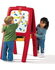 Step2 885200 Easel For Two with Bonus Magnetic Letters & Numbers, Red