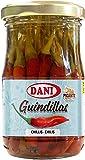 Dani Guindillas Enteras (Piripiri Rojo) en Vinagre, Picante, 185 Gramos