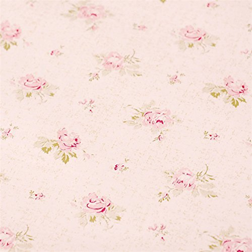 Pink Floral Drawer Shelf Liner Self Adhesive Decorative Contact Paper Vinyl Covering for Shelves Drawer Furniture Wall Decoration 17.7x78.7 Inches