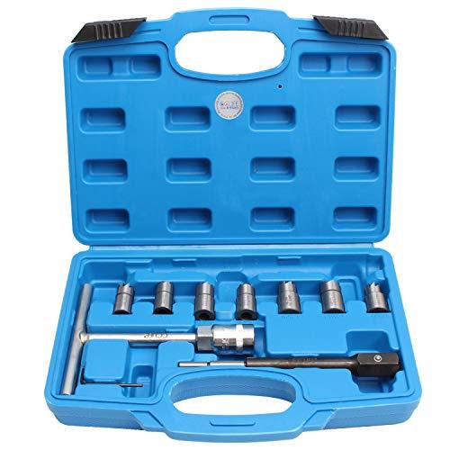 CCLIFE 10 piezas Escariador de asiento de inyectores diesel escariador para...