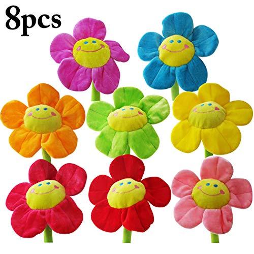 Joyibay 8PCS Felpa Flores Girasol Rosa Flor Peluches