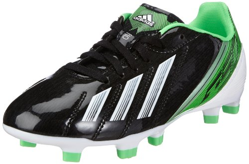 adidas Performance F10 TRX FG J, Botas de fútbol Niños, Black 001 / Running White FTW/Green Zest 013, 34