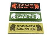 Si Vis Pacem para Bellum Molon Labe PVC Airsoft Patch, Full Set