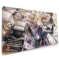 ヴァイオレット・エヴァーガーデン1 高品質ゴム材料 健康に無害滑り止ッドキーボードラップトップコンピュータースピードマウスマウスpcデスクプロテクターマット ラージマウスパッド