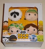 Tsum Tsum Disney Star Wars Plush Collector Set # 3 (4 Pack) Endor/Return of The Jedi ROTJ with Luke Skywalker, Han Solo, Princess Leia & Scout Trooper / Imperial Biker Scout