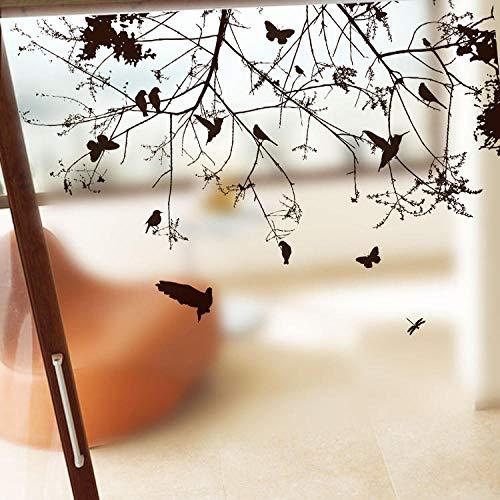 Wandaufkleber Schlafzimmer Büro Wohnzimmer Wanddeko - PVC durchscheinende durchscheinende Dekorfolie für Balkonfenster