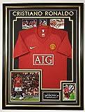 Foto firmada por WWW.MEMORABILIASHOP.CO.UK Cristiano Ronaldo del Manchester United con Camiseta *AFTAL Dealer CERITICADO de autenticidad *