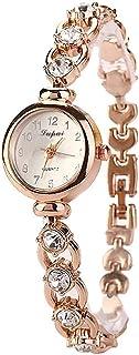 Relógio Feminino Dourado Quartz Pulseira Com Pedras E Strass