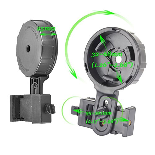 Universal Cell Phone Adapter Mount Compatible Binocular Monocular Telescope Microscope