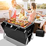 4YANG Portable Barbecue Charbon de Bois BBQ Grille Mini Pliable Charcoal Barbecue...