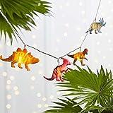 Lights4fun 12er LED Dinosaurier Lichterkette Kinderzimmer batteriebetrieben Timer