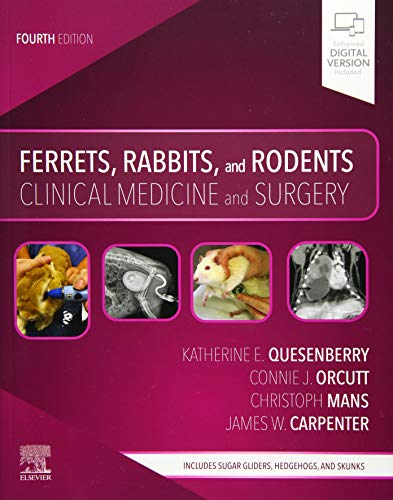 Compare Textbook Prices for Ferrets, Rabbits, and Rodents: Clinical Medicine and Surgery 4 Edition ISBN 9780323484350 by Quesenberry DVM MPH  Diplomate ABVP, Katherine,Mans Dr Med Vet, Christoph,Orcutt, Connie,Carpenter MS  DVM  Dipl ACZM, James W.