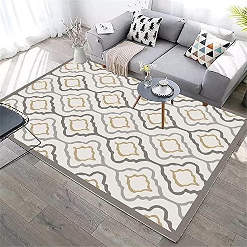 small rugs for bedrooms Gray Living room carpet gray retro square design soft carpet anti-mita carpet for living room 60X90CM mats and rugs 1ft 11.6''X2ft 11.4''