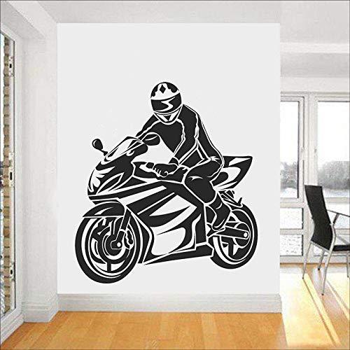 Calcomanías de pared de motocicleta estilo fresco puertas y ventanas deportivas pegatinas de vinilo dormitorio adolescente sala de juegos arte decoración de interiores papel tapiz de coche