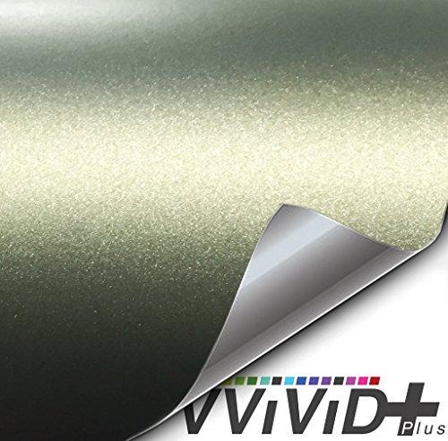 VViViD+ Premium Vinyl Wrap Film (3ft x 5ft, Matte Metallic Dark Green)