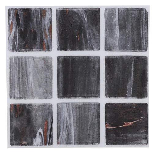 Pelar y pegar azulejos para salpicaduras, 18 piezas de pegatinas de transferencia de azulejos de mosaico, baño, cocina, bricolaje, hogar(002)