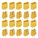 JUTOSU XT60コネクター コネクタープラグ オス&メス XT60 RC バレット リポバッテリー用 10ペア